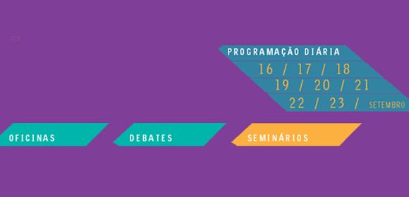 O Festival de Brasília oferece 17 seminários que serão transmitidos ao vivo, pelo site do evento