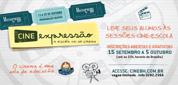 CineBH aproxima área da educação cinema por meio do Cine Expressão